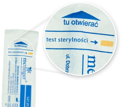 Szczoteczki do cytologii Directa posiadają test sterylności na każdym blistrze.