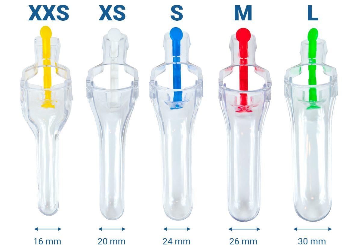 Wzierniki ginekologiczne Invisio w 5 rozmiarach.