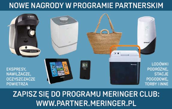 Nagrody w programie partnerskim Meringer CLUB